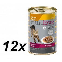Nutrilove mokra karma dla kota z kurczakiem 12 x 400g