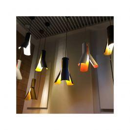 Lampa wisząca 32cm Altavola Design Origami Design 1 biało-pomarańczowa