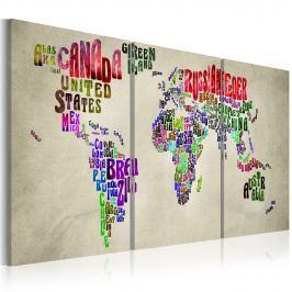 Obraz - Lekcja geografii (60x30 cm)