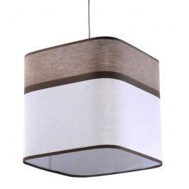 Lampa wisząca Latte 25x25cm Sollux Lighting biało-brązowy