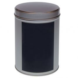 Puszka na herbatę 200g Eigenart okrągła tablicowa srebrna