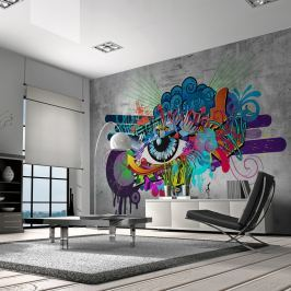 Fototapeta - Graffiti eye (300x210 cm)