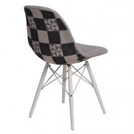 Krzesło P016W Pattern D2 szare/białe