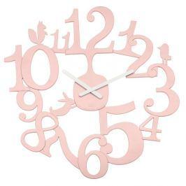 Zegar ścienny 45 cm Koziol PI:P pastelowy róż