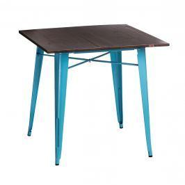 Stół Paris Wood D2 sosna orzech/niebieski Stoły