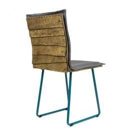 Krzesło na płozach Gie El Gont turkus/szary Krzesła i taborety