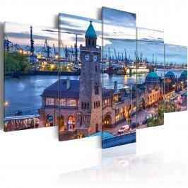 Obraz - Niemcy, Hamburg, port (100x50 cm) Obrazy i plakaty