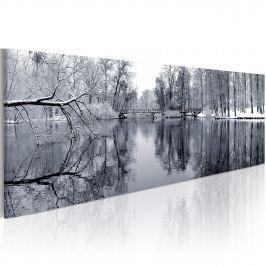 Obraz - pejzaż: zima (120x40 cm) Obrazy i plakaty