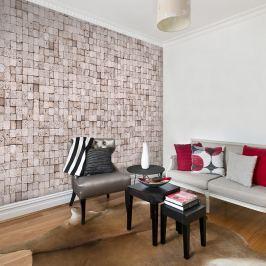 Fototapeta - Kamienne tło: mozaika (50x1000 cm) Fototapety
