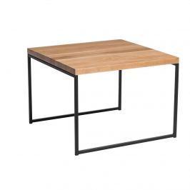 Stolik Graphi D2 45x45cm profil 15 mm dąb naturalny/czarny Ławy i stoliki