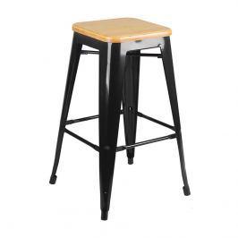 Krzesło barowe 41x41x65cm King Home Tower Wood sosna/czarne Hokery i stołki barowe