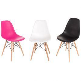 Krzesło P016W PP dark pink, drewniane nogi Krzesła i taborety