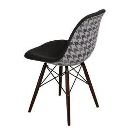 Krzesło P016W Pattern D2 szar-pepitka /dark Krzesła i taborety