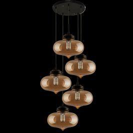 Lampa wisząca London Loft 1 CO bursztyn Krzesła i taborety
