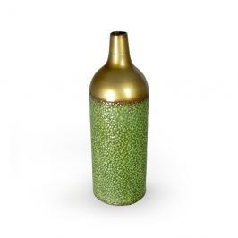 Wazon dekoracyjny 53,5x18cm Artehome zielono-złoty