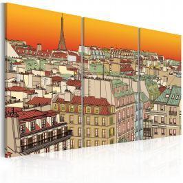 Obraz - Promienny Paryż (60x40 cm) Obrazy i plakaty