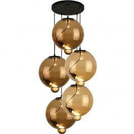 Lampa wisząca Modern Glass Bubble CO BC brąz/koniak Krzesła i taborety