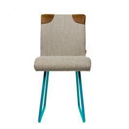 Krzesło na płozach Gie El turkusowy