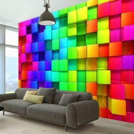 Fototapeta - Sześcian pełen koloru (300x210 cm) Fototapety