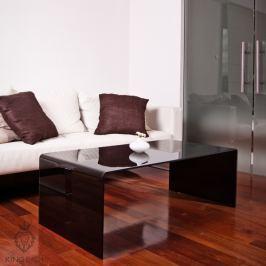 Stolik szklany King Bath Priam A 10 mm czarny Ławy i stoliki