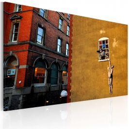 Obraz - Kochanek (Banksy) (60x40 cm)