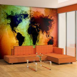 Fototapeta - Czarne kontynenty, kolorowe oceany... (200x154 cm) Fototapety