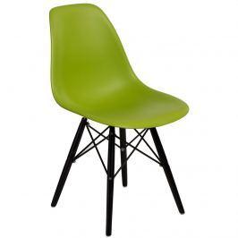 Krzesło P016W PP D2 Zielone
