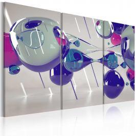 Obraz - Glass bubbles - triptych (60x40 cm) Obrazy i plakaty