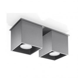 Plafon 26x10cm Sollux Lighting Quad 2 Szary