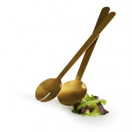 pozłacane sztućce do serwowania sałaty, 26,5 cm