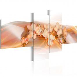 Obraz - Kremowe kwiaty - Orchidee (100x45 cm) Obrazy i plakaty