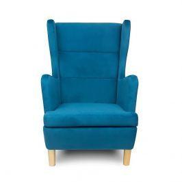 Fotel 71x95x104cm Skandica Lars niebieski Fotele i pufy