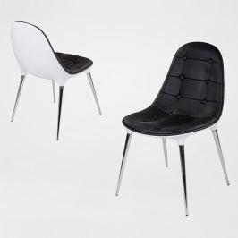 Krzesło King Bath Passion czarno-białe