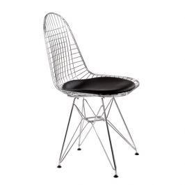 Krzesło Net czarna pojedyncza poduszka Krzesła i taborety