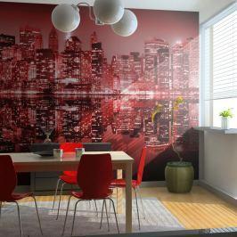 Fototapeta - Red-hot NYC (200x154 cm) Fototapety
