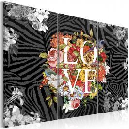 Obraz - Flowers from the heart (60x40 cm) Obrazy i plakaty