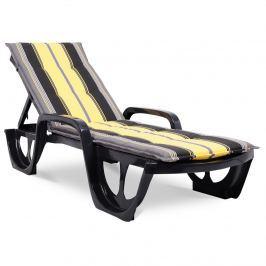 Poduszka na leżak ogrodowy 190x56cm Florida Bazkar szaro-żółta Pozostałe artykuły wyposażenia wnętrz