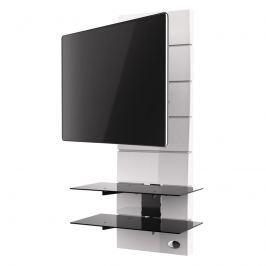 Półka pod TV z maskownicą Meliconi Ghost Design 3000 z rotacją biała Pozostałe meble do salonu