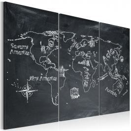 Obraz - Lekcja geografii (Język czeski) - tryptyk (120x80 cm)