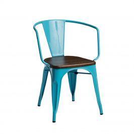 Krzesło Paris Arms Wood D2 niebieskie/sosna orzech Krzesła i taborety