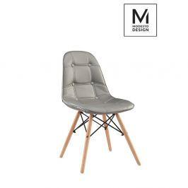 Krzesło Ekos Wood szare-podstawa bukowa Krzesła i taborety