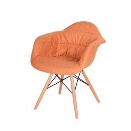 Fotel King Bath Rugo Arm pomarańczowy Fotele i pufy
