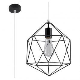 Lampa wisząca 100x25x25cm Sollux Lighting Gaspare czarna Lampy sufitowe