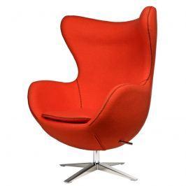 Fotel Jajo D2 z przeszyciem szeroki tkanina pomarańczowa Fotele i pufy