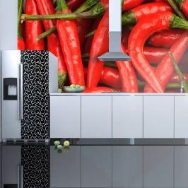 Fototapeta - papryka chili - tło (200x154 cm)