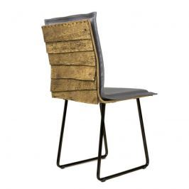 Krzesło na płozach Gie El Gont czarny/szary