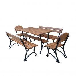 Meble ogrodowe bez podłokietników Faktor Plus De Lux 150cm Fiemar brązowe