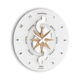 Zegar ścienny Incantesimo Design Nautico drewno bielone