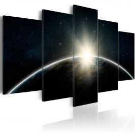 Obraz - Niebieska planeta - Ziemia (100x50 cm)