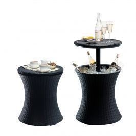 Stolik ogrodowy 3w1 50 cm Keter Pacific Cool Bar antracyt